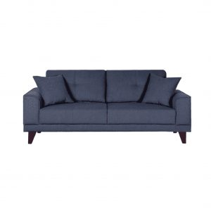 Buy Arco Three Seater Sofa in Navy Blue Colour Online