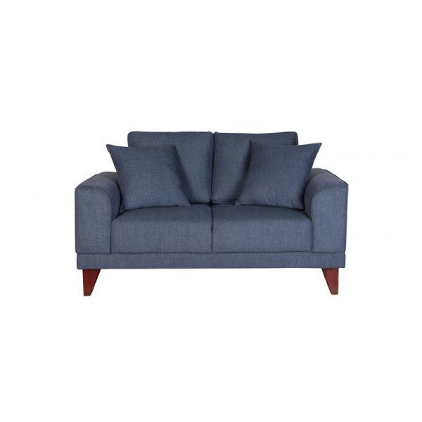 Buy Arco Two Seater Sofa in Navy Blue Colour Online