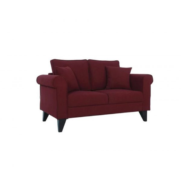 Buy Sarno Two Seater Sofa in Garnet Red Colour Online