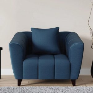Buy Bobbio One Seater Sofa in Blue Colour Online