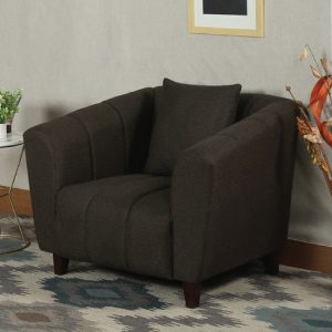 Buy Bobbio One Seater Sofa in Brown Colour Online