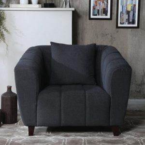 Buy Bobbio One Seater Sofa in Grey Colour Online