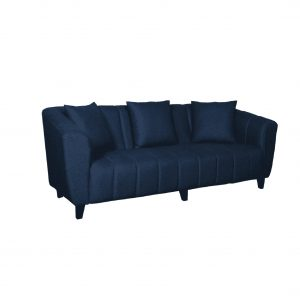 Buy Bobbio Three Seater Sofa in Blue Colour Online