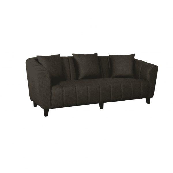 Buy Bobbio Three Seater Sofa in Brown Colour Online