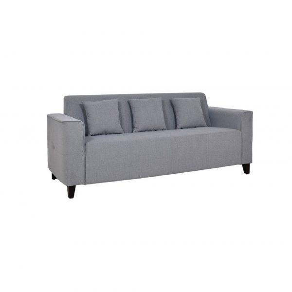 Buy Faenza Three Seater Sofa in Ash Grey Colour Online