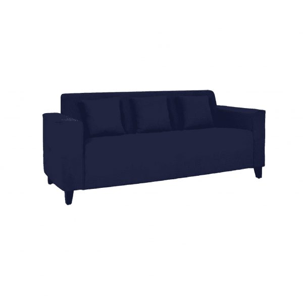 Buy Faenza Three Seater Sofa in Navy Blue Colour Online