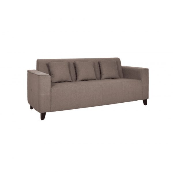 Buy Faenza Three Seater Sofa in Sandy Brown Colour Online