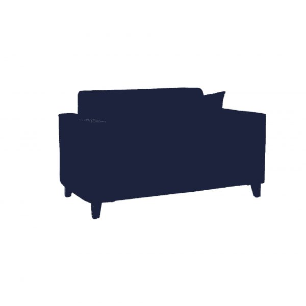 Buy Faenza Two Seater Sofa in Navy Blue Colour Online