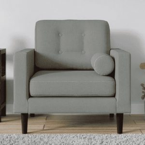 Buy Forli One Seater Sofa in Ash Grey Colour Online
