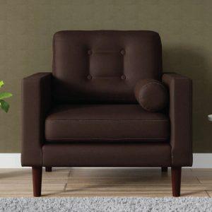 Buy Forli One Seater Sofa in Chestnut Brown Colour Online