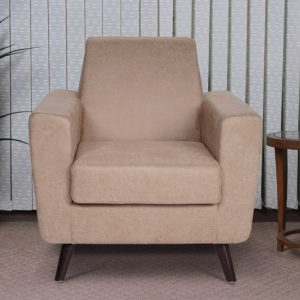 Buy Greco One Seater Sofa in Beige Colour Online