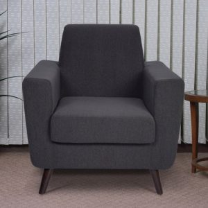 Buy Greco One Seater Sofa in Charcoal Grey Colour Online