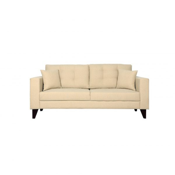 Buy Inferio Three Seater Sofa in Beige Colour Online