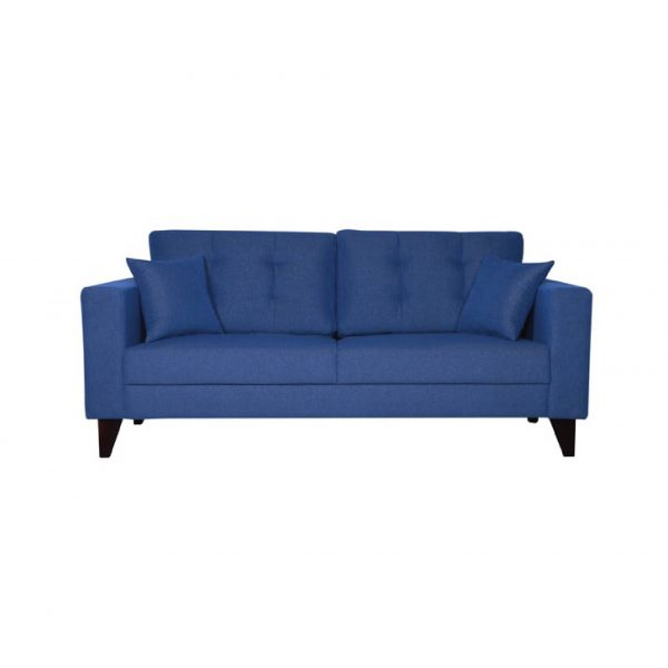 Buy Inferio Three Seater Sofa in Denim Blue Colour Online