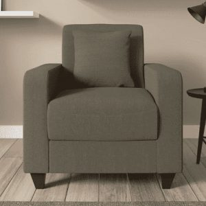 Buy Naples One Seater Sofa in Sandy Brown Colour Online