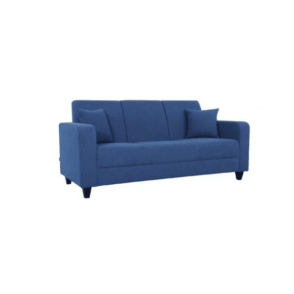 Buy Naples Three Seater Sofa in Denim Blue Colour Online