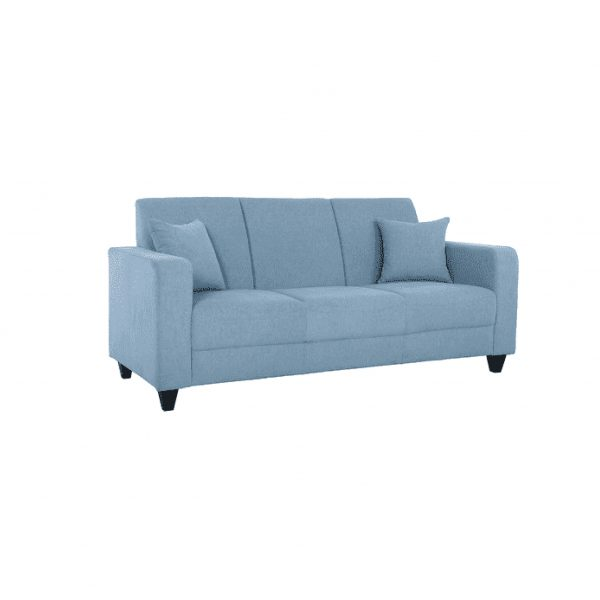 Buy Naples Three Seater Sofa in Ice Blue Colour Online