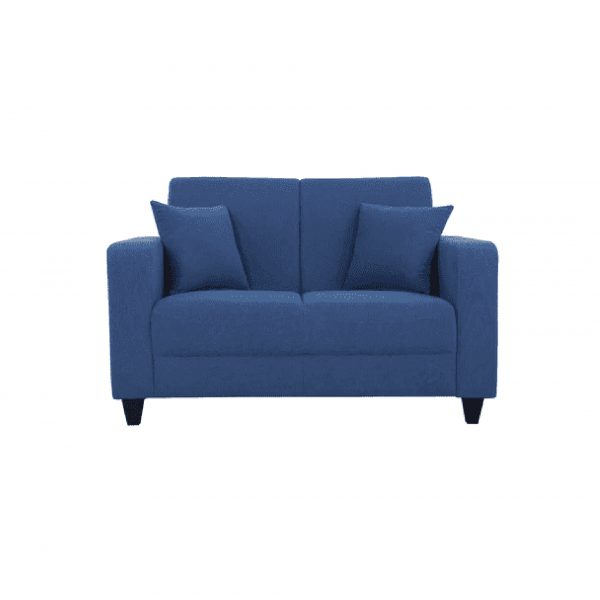 Buy Naples Two Seater Sofa in Denim Blue Colour Online