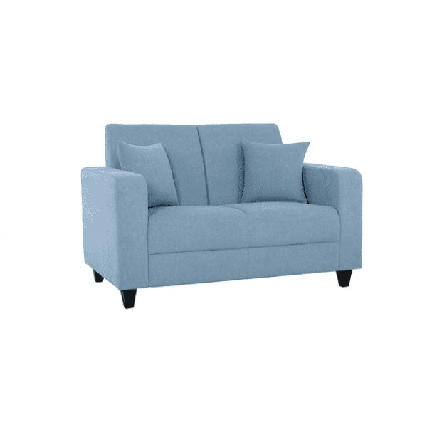 Buy Naples Two Seater Sofa in Ice Blue Colour Online