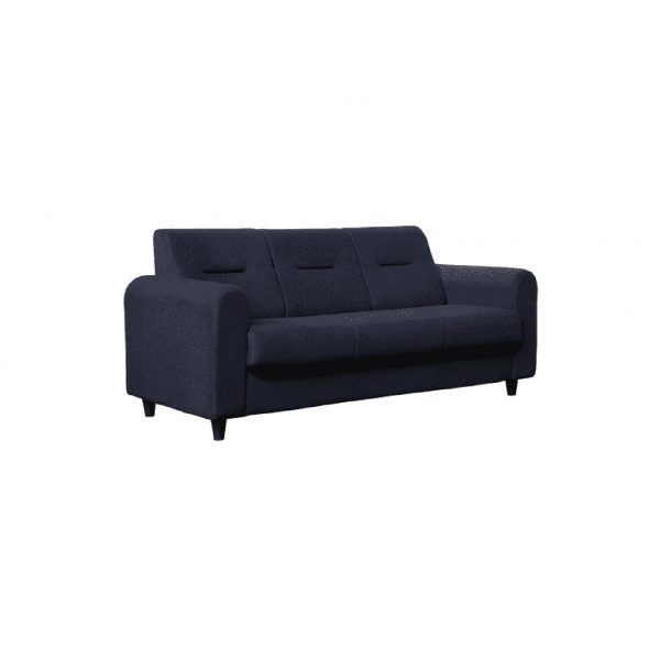 Buy Nola Three Seater Sofa in Navy Blue Colour Online