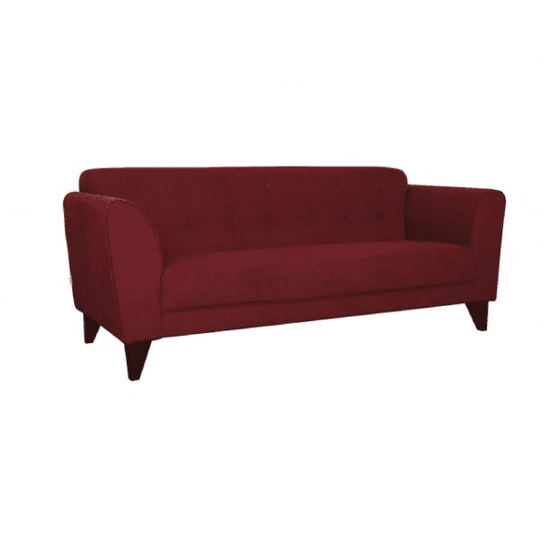 Buy Ortici Three Seater Sofa in Garnet Red Color Online
