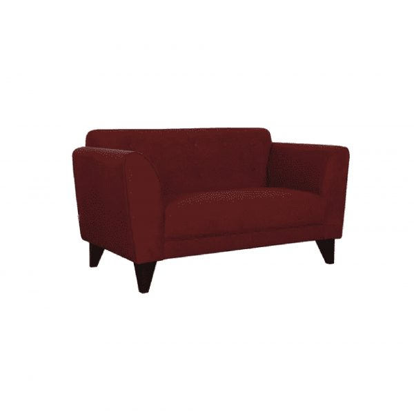 Buy Ortici Two Seater Sofa in Garnet Red Color Online