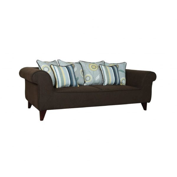 Buy Salerno Three Seater Sofa in Chestnut Brown Colour Online