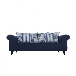 Buy Salerno Three Seater Sofa in Navy Blue Colour Online