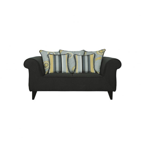 Buy Salerno Two Seater Sofa in Charcoal Grey Colour Online