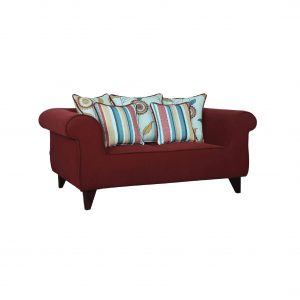 Buy Salerno Two Seater Sofa in Garnet Red Colour Online