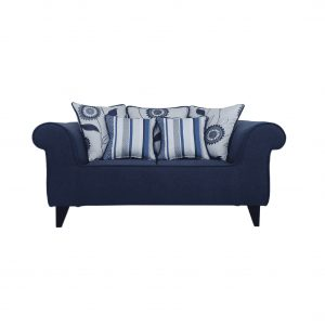 Buy Salerno Two Seater Sofa in Navy Blue Colour Online