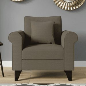 Buy Sarno One Seater Sofa in Sandy Brown Colour Online