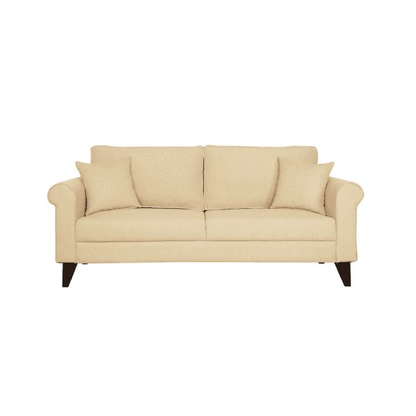 Buy Sarno Three Seater Sofa in Beige Colour Online