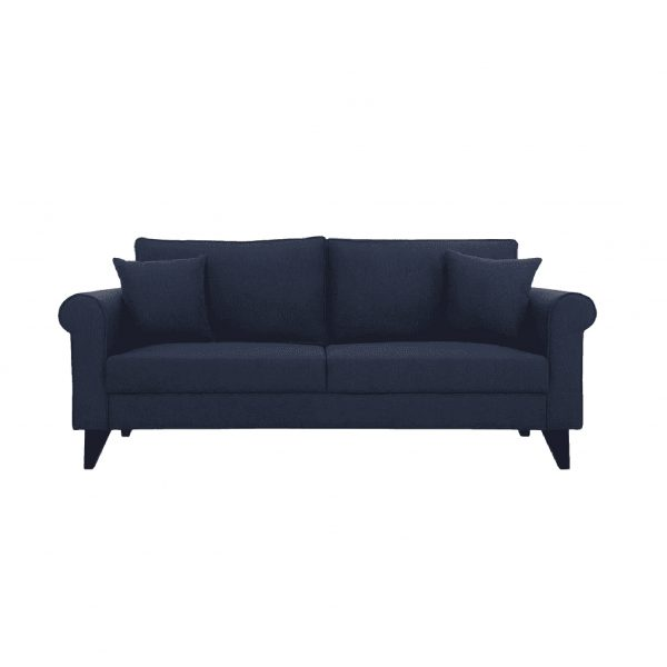 Buy Sarno Three Seater Sofa in Navy Blue Colour Online