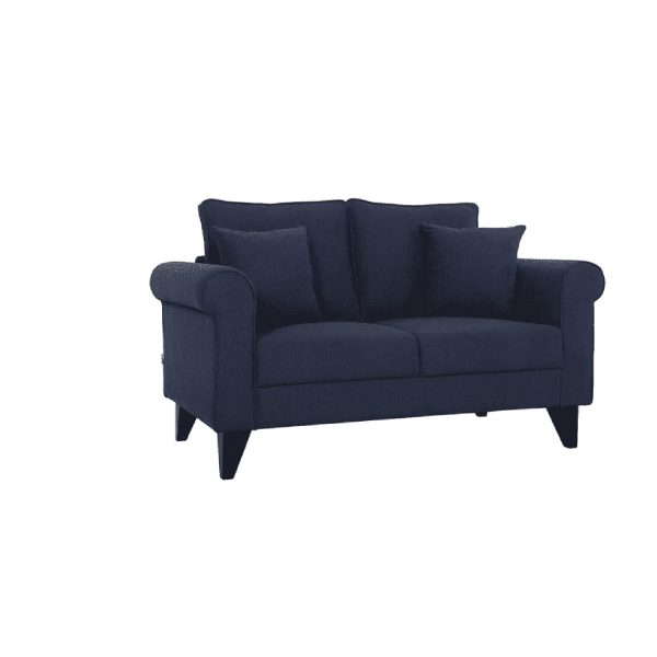 Buy Sarno Two Seater Sofa in Navy Blue Colour Online