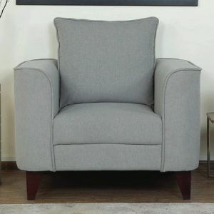 Buy Sessa One Seater Sofa in Ash Grey Colour Online