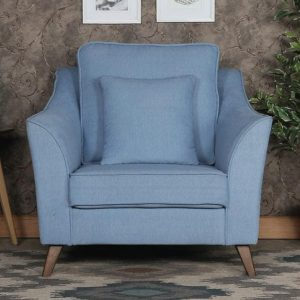 Buy Sessa One Seater Sofa in Ice Blue Colour Online