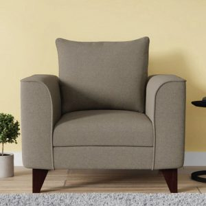 Buy Sessa One Seater Sofa in Sandy Brown Colour Online
