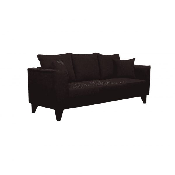 Buy Sessa Three Seater Sofa in Chestnut Brown Colour Online