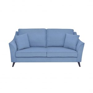 Buy Sessa Three Seater Sofa in Ice Blue Colour Online