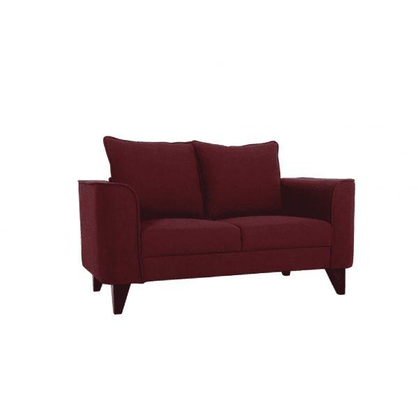 Buy Sessa Two Seater Sofa in Garnet Red Colour Online