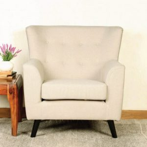 Buy Torre One Seater Sofa in Beige Colour Online