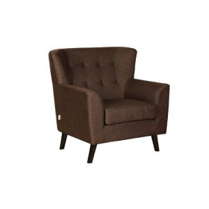 Buy Torre One Seater Sofa in Dark Brown Colour Online