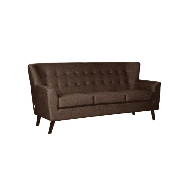 Buy Torre Three Seater Sofa in Dark Brown Colour Online