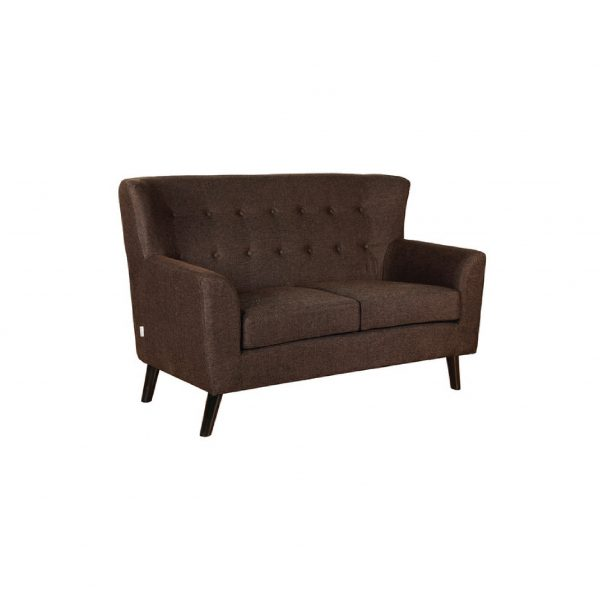 Buy Torre Two Seater Sofa in Dark Brown Colour Online