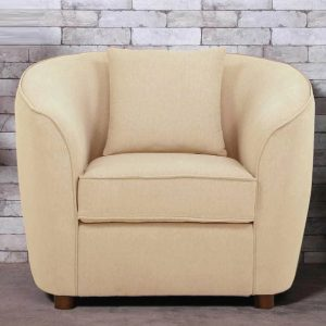 Buy Ziata One Seater Sofa in Beige Colour Online