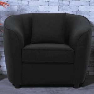 Buy Ziata One Seater Sofa in Grey Colour Online