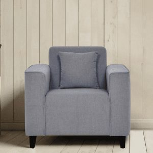 Buy Faenza one Seater Sofa in Ash Grey Colour Online