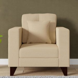 Buy Inferio One Seater Sofa in Beige Colour Online