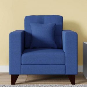 Buy Inferio One Seater Sofa in Denim Blue Colour Online